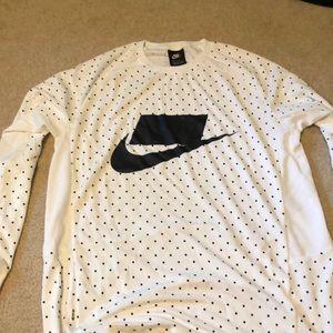 Black White Polka Dots Nike Long Sleeve